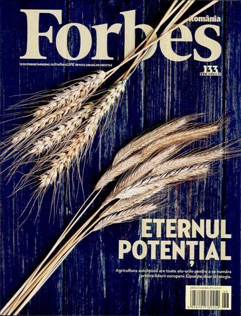 """In ultimul numar al revistei Forbes puteti citi despre eternul potential al agriculturii din tara noastra. """"Agricultura autohtona are toate atu-urile pentru a se numara printre liderii europeni. Lipseste doar strategia.""""  Aboneaza-te gratuit la Titlurile Zilei si fii la curent cu prima pagina a ziarelor si revistelor din Romania acum: http://www.titlurile-zilei.ro/economie-business #stiri #business"""