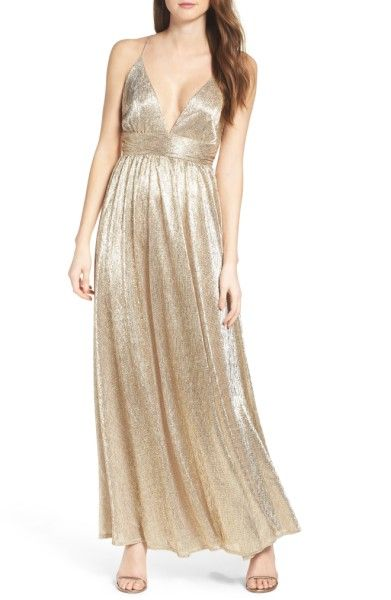 Main Image - Lulus Metallic Maxi Dress
