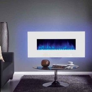 Gazco Radiance 100W White Glass Electric Wall Mounted Fire