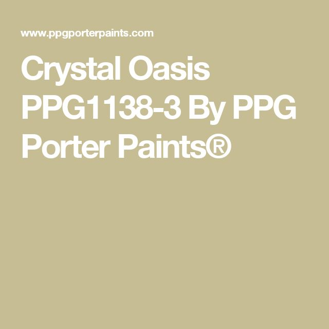 Crystal Oasis PPG1138-3 By PPG Porter Paints®