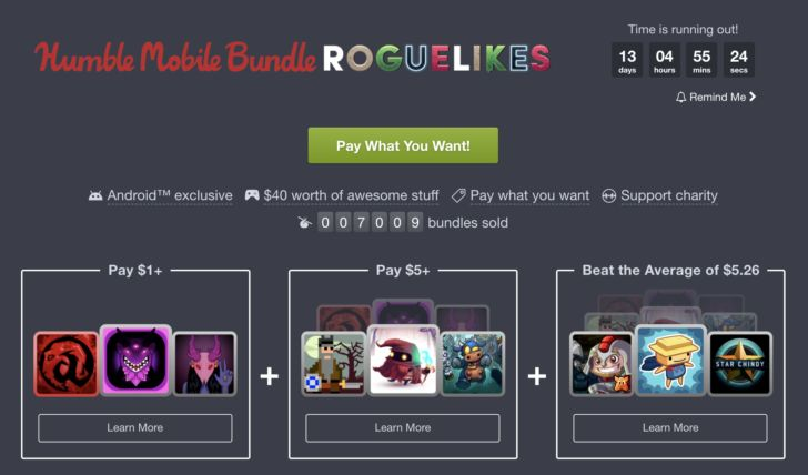 Humble Bundle's latest mobile offering is a set of 9 great roguelike games Read More ➤ http://back.ly/WkoEm
