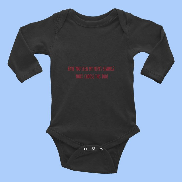 Halloween Fun - Baby Infant Rib Bodysuit LS1OX Have you seen my mom's sewing?  You'd choose this too! Fun for #Halloween :)