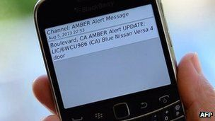 Police in Los Angeles, California notified people of an Amber Alert in a certain area  by sending a message to their phones