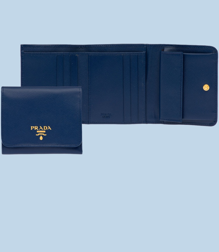 black prada wallet price - Prada blue trifold French coin small wallet | Style & Beauty ...