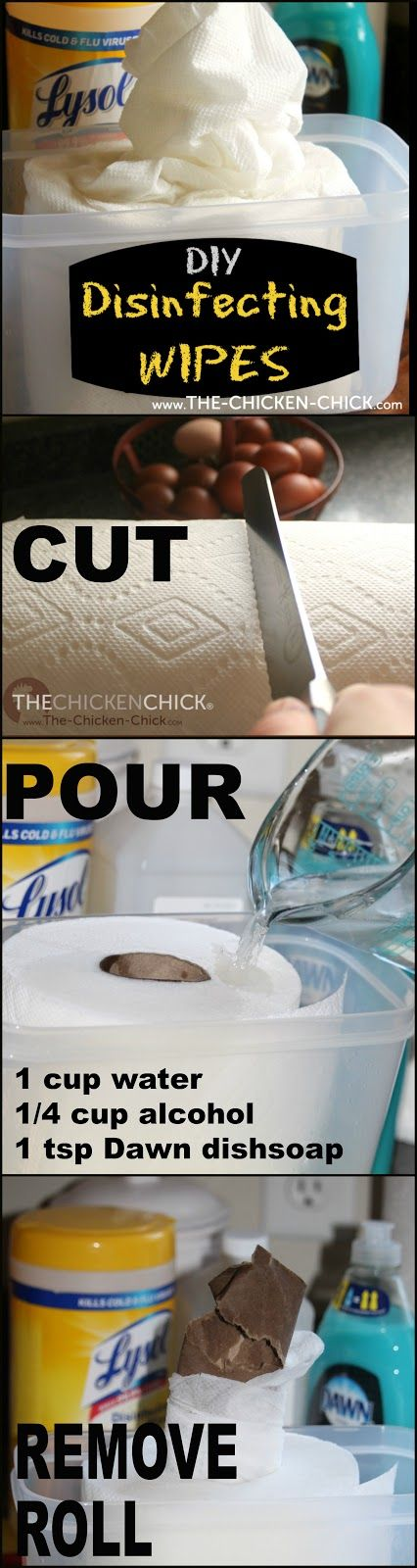 The Chicken Chick®: Kitchen Cleaning Hack: DIY Disinfecting Wipes!
