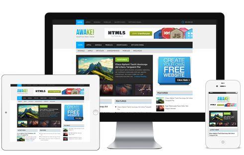Awake A Colorful Metro Style Responsive Magazine Blog WordPress Theme