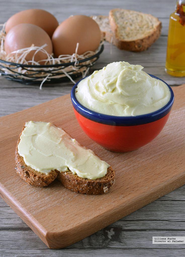 mayonesa casera de clara de huevo.