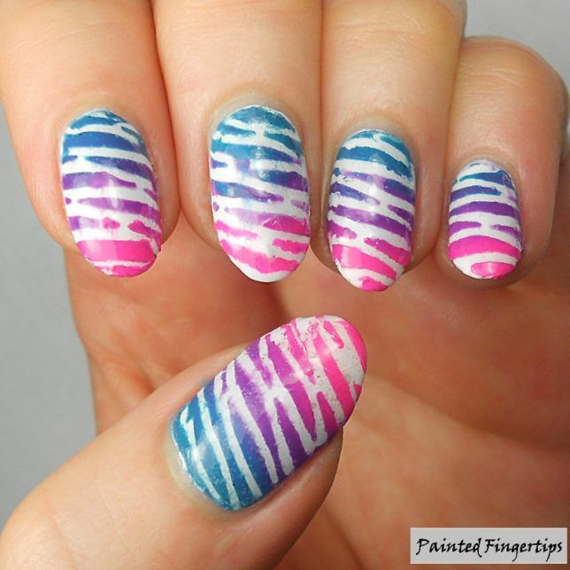 Bright Stripes: Born Pretty Store Nail Vinyls Review | Painted Fingertips