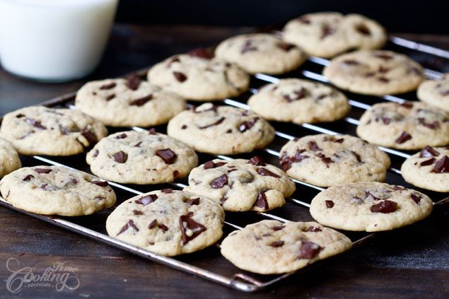 Chocolate Chunk Cookies - the softest chocolate cookies ever, melted chocolate chunk inside, soft buttery dough cookies, totally divine.