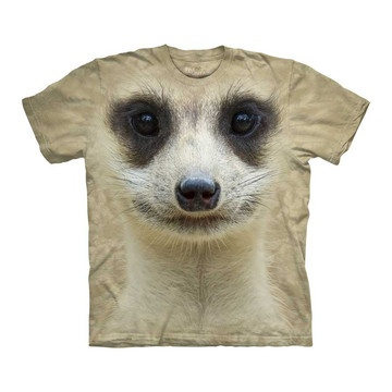 Amazon.com: Meerkat Face The Mountain Tee Shirt Child S-XL Adult S-XXX: Clothing
