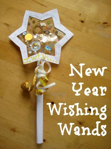 Love this idea for kids New Years' Eve wishing wands - great way to make resolutions too.: