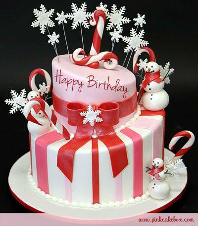 snowman birthday cake - christmas Photo