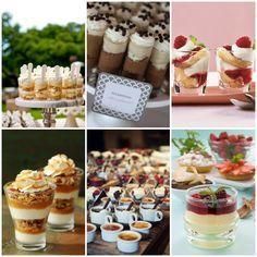 Decoracion de las mesas de dulces para bodas con mini-postres | How to dress your wedding dessert table with mini-desserts!