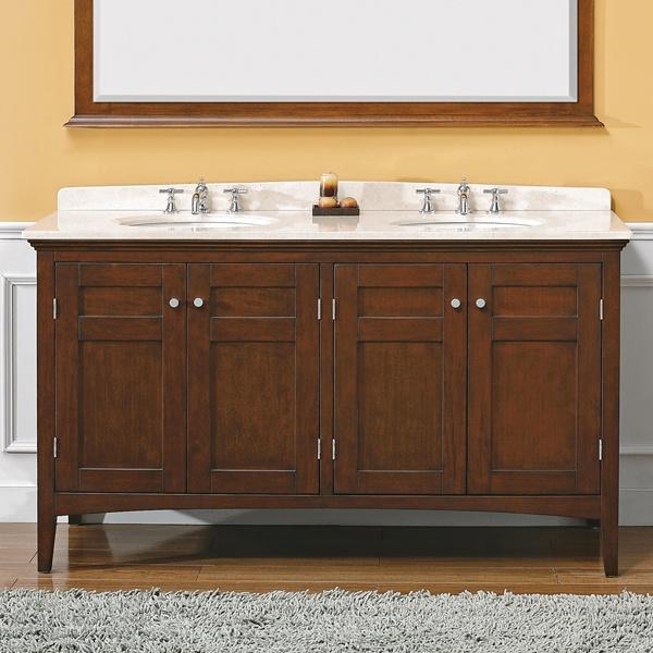portland 60-in double vanity (mahogany) | bathroom ideas ...