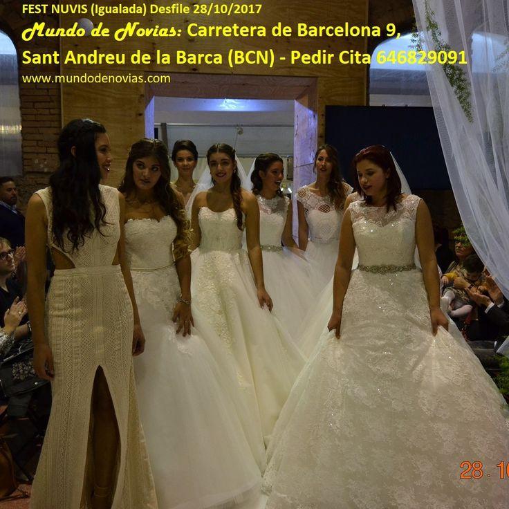 """Foto de todas las modelos del desfile de Atelier """"Mundo de Novias"""" en NUVIS FEST de Igualada del 28/10/2017."""