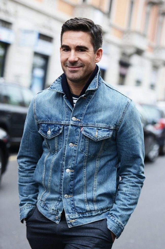 Mens denim jacket and jeans