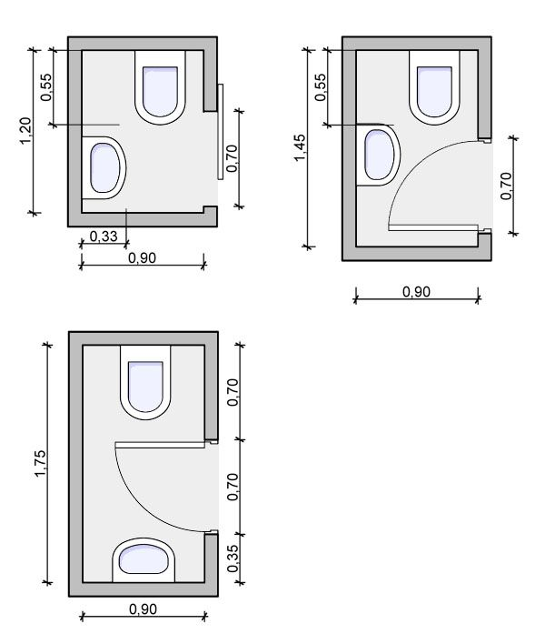 Tiny powder room layouts - maybe a part of my entrance/laundry room project                                                                                                                                                                                 Más