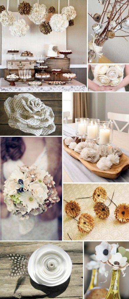 Beautiful Paper Flower Ideas for an ecofriendly wedding