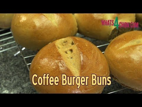 How to Make Coffee Burger Buns - Flavorful, Aromatic Burger Buns with a ...