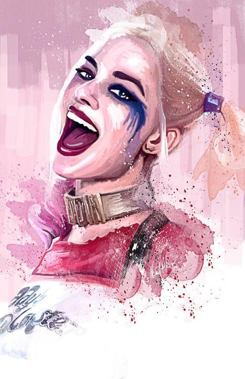 "akersdigitalart: "" Artwork of Margot Robbie as Harley Quinn from Suicide Squad """