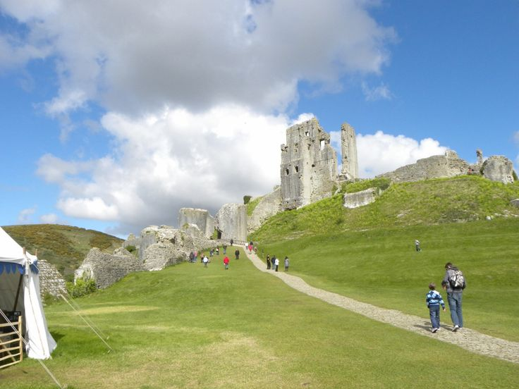 Corfe Castle, Dorset has a fantastic events programme throughout the year and is great fun to explore for all the family.
