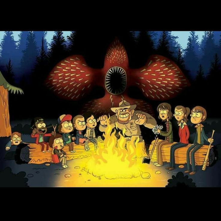 YAAAS!!! Gravity falls x Stranger things, I see it!