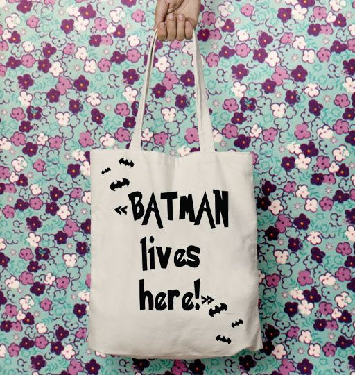 Tote bag canvas, Shopping bag, Gift for mother, Batman, Shoulder bag, Cotton tote bag, Quote,New mother gift, Superhero,  Toys,Gift for wife