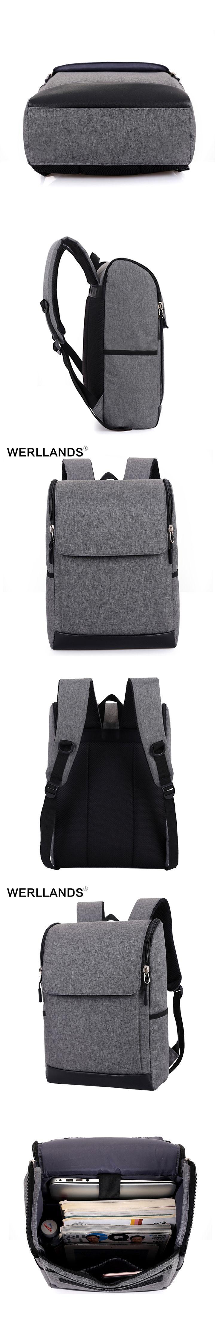WERLLANDS Small Backpack for Men Korean Style Notebook Mini School Bag For Boys College teen Backpacks Waterproof Canvas Daypack