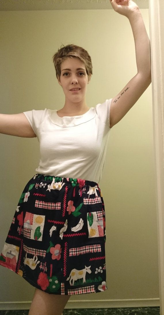 """Your Inner Country Girl Cotton Elastic Waistband Skirt- $20.00 100% Cotton Fits Waists 30""""-36"""""""