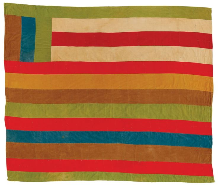 """Quilts of Gees Bend - Arcola Pettway, 1934-1994. """"Lazy Gal"""" variation, 1976, corduroy, 81 x 89 inches."""