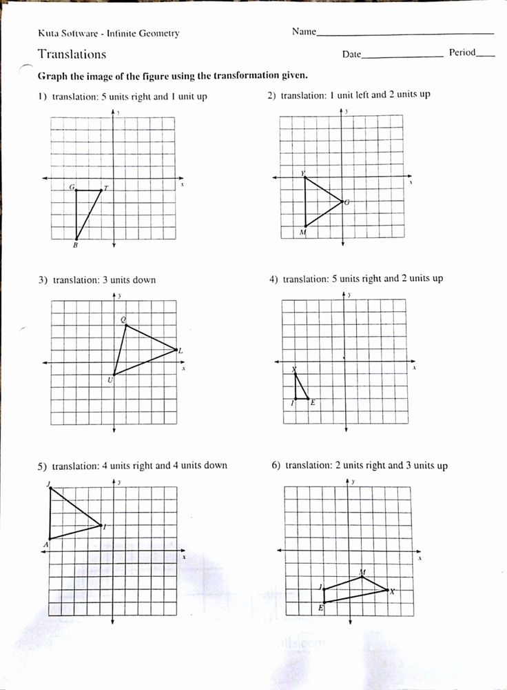 Sequence Of Transformations Worksheet Lovely Geometry