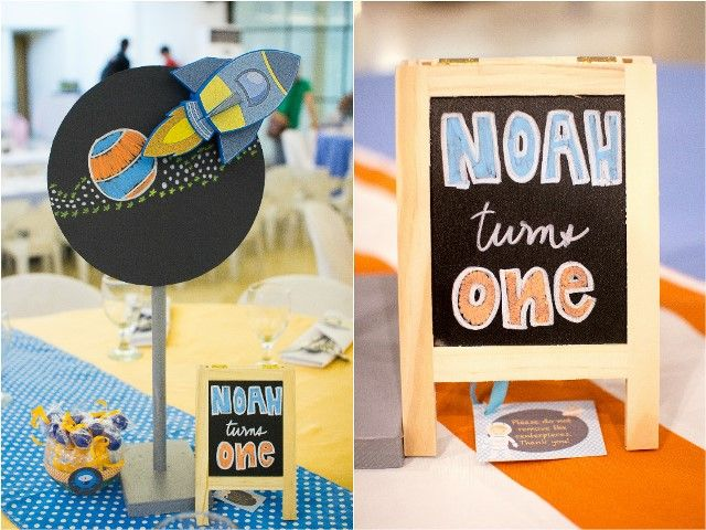 Noahs Outer Space Themed Party 1st Birthday Outer SpaceAstronaut Themed Party Outer