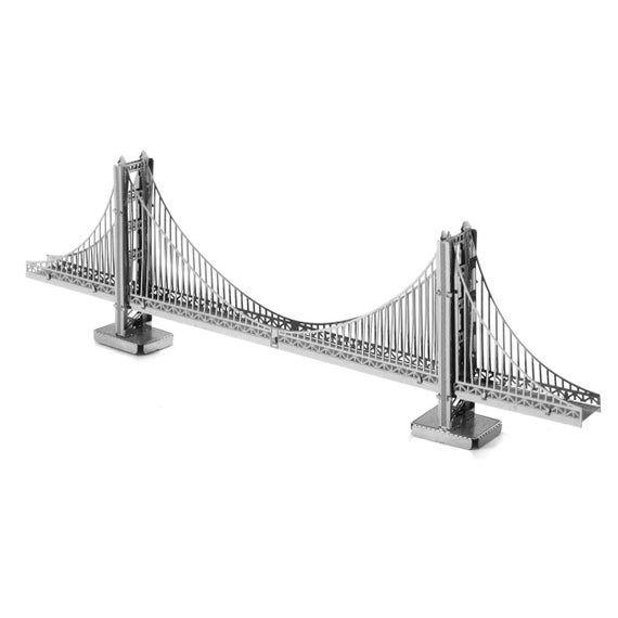 Metal Earth Golden Gate Bridge 3d Metal Model Kit Puzzle In 2020 San Francisco Golden Gate Bridge Famous Architecture Metal Model Kits