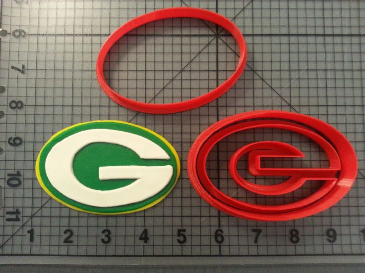 Green Bay Packers Cookie Cutter Set by JBCookieCutters on Etsy