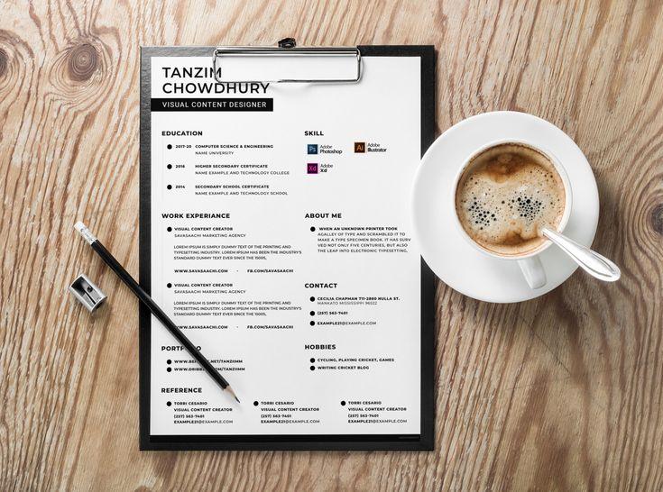 Free content creator resume template web designer resume