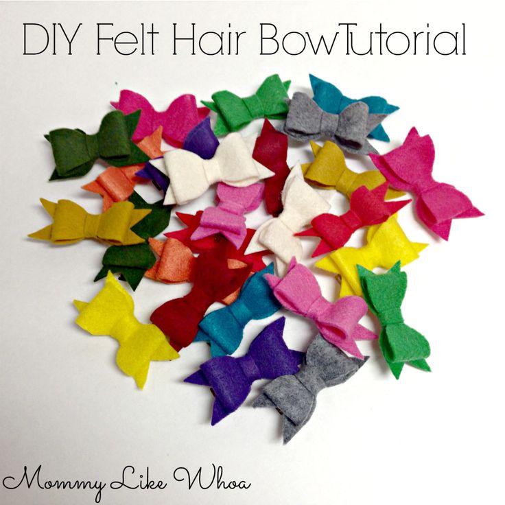 DIY Felt Hair Bow Tutorial