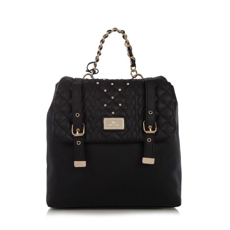 Black cable studded batchel - Handbags & purses - Debenhams.com