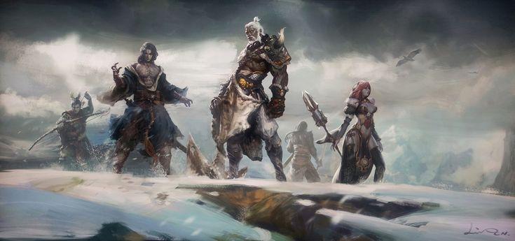 Воины Мощь Снег Небо