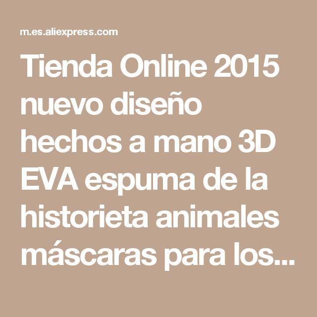 Tienda Online 2015 nuevo diseño hechos a mano 3D EVA espuma de la historieta animales máscaras para los niños sombrero sombrero mascarada decoraciones del partido   Aliexpress móvil