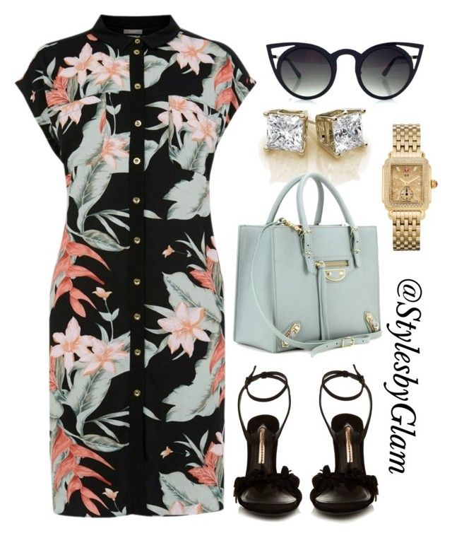 DIVA STYLE by stylesbyglam on Polyvore featuring polyvore moda style Oasis Sophia Webster Balenciaga Michele fashion clothing