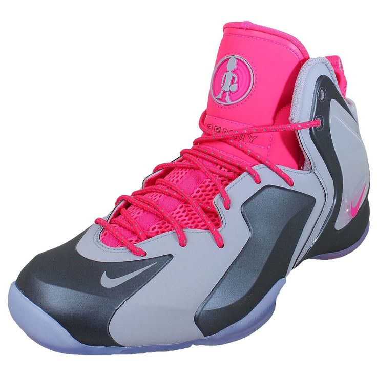 nike mens lil penny posite wolf grey wolf grey hyper pink shoes