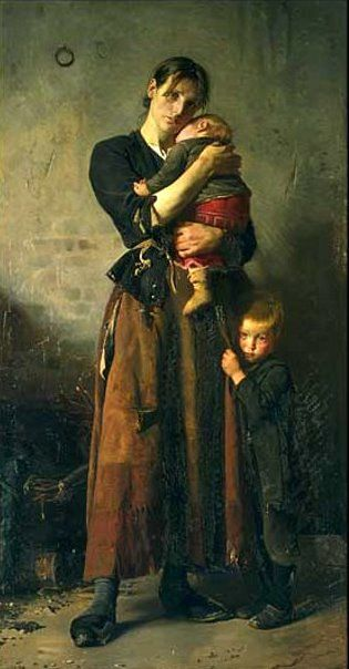 Frants Henningsen (1850 – 1908, Danish) : Abandoned, aARHUS Kunstmuseum