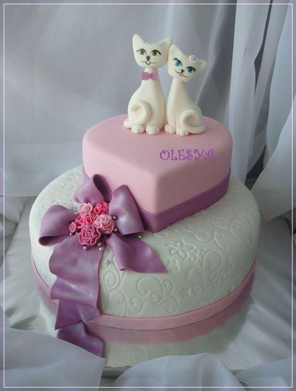 Свадебные торты Свадебный с сердцем
