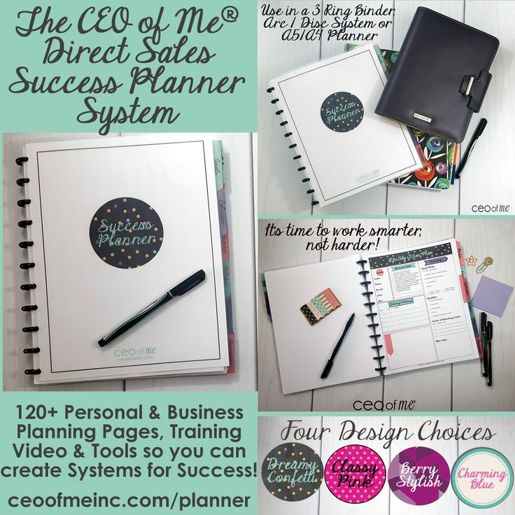 Direct Sales Leaders - best planner - this has everything!! <3  You can order a downloadable file and just print out the pages you'll use (which is pretty much everything!) - put it in a 3-ring binder or ARC system or clip board. I'm obsessed <3