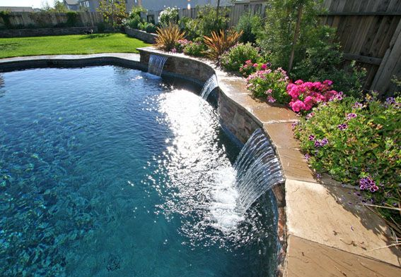 25 best ideas about pool fountain on pinterest for Water pool design