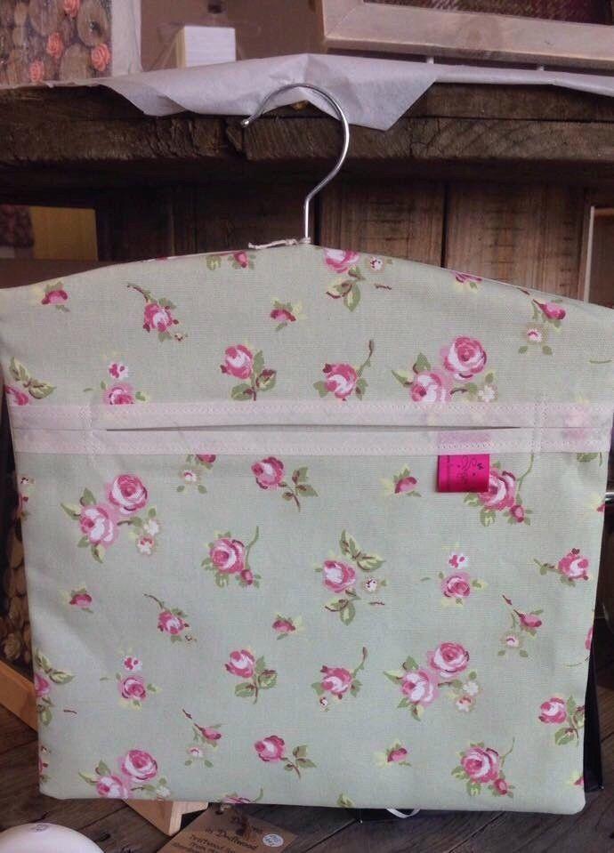 Washing Peg Bag Laundry Pin Bag Sage Ditsy Pink Flowers Kitchen Kitsch  | eBay