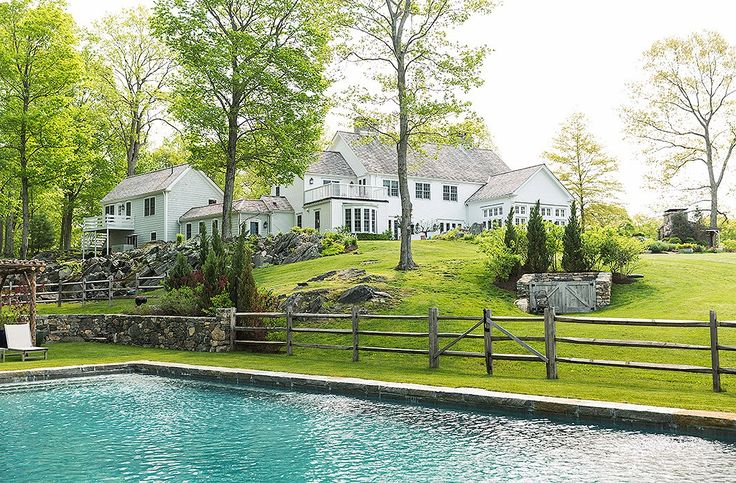 A prime summer destination, the pool is set a bit away from Brett Heyman's elegant country house.