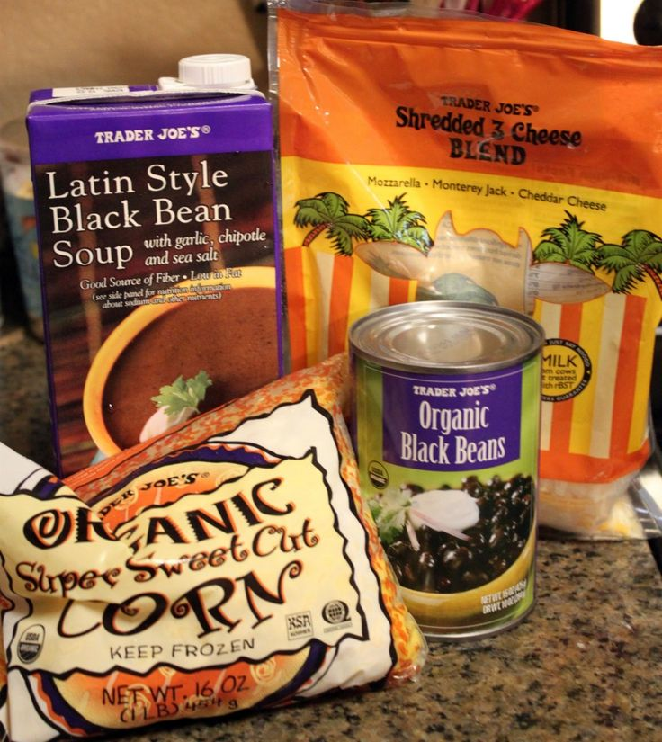 I've got a box of that TJ's Black Bean soup in my cupboard right now. This is what I'm going to do with it.