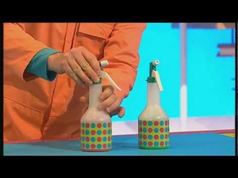 Mister Maker - spray paint.      For more videos and lots of Make ideas, go to http://mistermaker.com    For all the latest Mister Maker news like his page on Facebook (http://www.facebook.com/MisterMa...