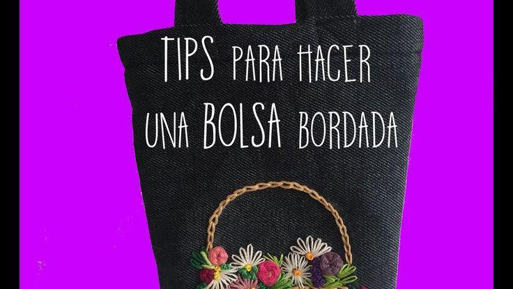 :::TIPS para hacer una bolsa bordada::: PASO A PASO